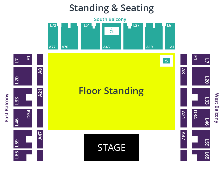 Brighton Centre Seating & Standing Plan